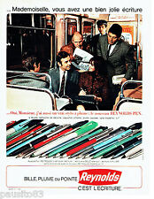 PUBLICITE ADVERTISING 066  1967    les  stylos bille Reynolds Pen