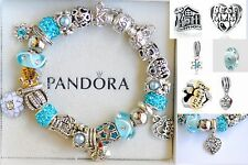 AUTHENTIC PANDORA Clasp 925 Silver BRACELET Best Mom Home Family Charm Beads NEW