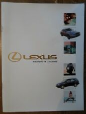 LEXUS RANGE orig 2000 UK Mkt Sales Brochure - IS200 GS300 HS430 RX300 LS430