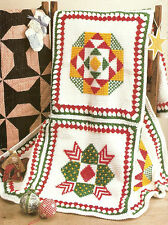 CHRISTMAS Patchwork Afghan/Crochet Pattern INSTRUCTIONS ONLY