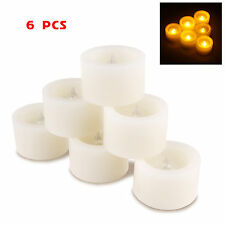 6X Candles LED Tea Light Battery Electric Flickering Flameless Decor Wedding