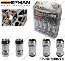EPMAN BLACK LOCKING FORMULA WHEEL NUTS M12 X 1.5 fit HONDA TOYOTA MITSUBISHI MAZ
