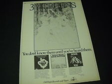 GONG David Bedford and ROBERT WYATT are 3 VIRGINS 1975 Promo Poster Ad mint cond