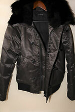 Theory 'Leonaard SF' Toggle Jacket Genuine Coyote Fur Size XS