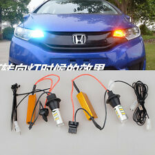 2x Switchback Iceblue LED Turn Signals Light Bulb For Honda Fit 2014-2016 Accord
