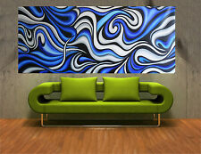 180cm x 90cm Aboriginal Art Painting OCEAN ABSTRACT abstract MADE TO ORDER