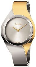 Women's Two-Tone Calvin Klein ck Senses Dress Watch K5N2M1Y6