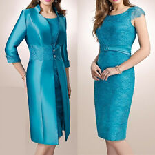 Plus Size Mother Of The Bride Outfit Long Jacket Women Formal Wedding Party Gown