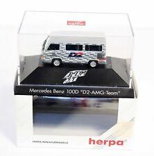 """Herpa 036306, Mercedes Benz 100D """"D2 AMG Team"""",1:87, im Originalkarton   #ab1521"""