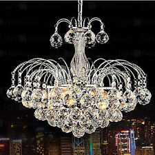Modern Contemporary Crystal Clear Pendant Light Ceiling Lamp Chandelier Lighting