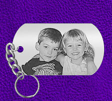 Fathers Day Gift, Picture of your Kids, Laser Engraved Keychain, Personalized!