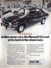 1971 Renault '12' Motor Car Advert  - Original Auto Print AD