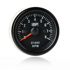 "New 2"" 52mm Black Tinted 0-8(x1000) RPM  Meters Car Smoke Tacho Gauges"