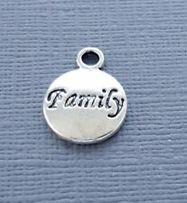 10pcs Pendant Tag Charm Dangle Family Silver tone Jewelry findings DIY c209