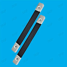 1x 185mm Strong Black Nylon Luggage Strap Metal End Fixing Case Lifting Handle