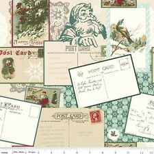 1/2 YD Riley Blake Cotton Fabric Christmas Holidays Winter 'POSTCARDS FOR SANTA'