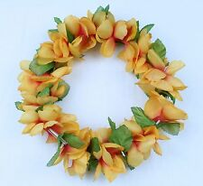 Hawaiian Lei Party Luau Haku Head Band Elastic Royal Purple Orange Plumeria