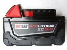 Milwaukee 48-11-1850 M18 RED LITHIUM XC 5.0 Extended Capacity Battery
