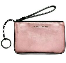 Victoria's Secret METALLIC ROSE WRISTLET KEY CHAIN FOB ID BADGE HOLDER