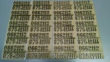 "3/4"" Self-Adhesive Gold Arabic Clock Numbers-NEW 20 SETS-Free Ship, USA made"