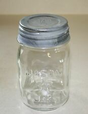 Vintage Mason Star Pint Clear Jar with Ball Zinc Lid