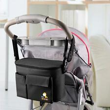 Black BABY PRAM BUGGY STROLLER DIAPER BOTTLE STORAGE ORGANIZER SHOULDER BAG