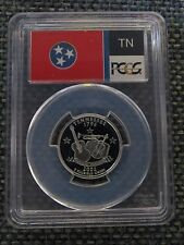 2002-S 25c Tennessee SILVER State Flag Quarter Proof Coin PCGS PR70DCAM