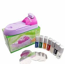 1X Nail Art Prfessional Acrylic UV DIY Printing Machine Stamping Set New!