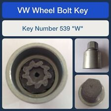 "Genuine VW Locking Wheel Bolt / Nut Key 539 ""W"""