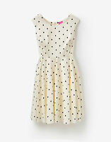 Joules Womens Amelie Woven Dress Black Spot - UK 8 to 18