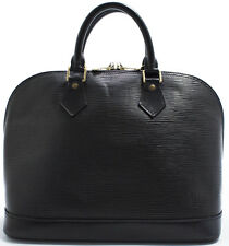 Louis Vuitton Sac EPI alma borsa bag elegante senza tempo SUPER NERO BLACK NOIR