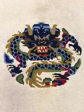 """Decorative hand woven Dragon Ivory Art Deco Chinese Rug size 3'x5'5"""""""