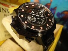 Invicta 18697 50mm Lefty I Force Bomber Black/Red Chrono S/S Bracelet Watch NEW!
