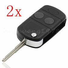 2x Flip Remote Key Shell Case for Land Rover Freelander MK1 TD4 TD5 2 Buttons