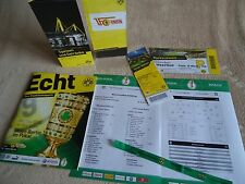 8 items VIP Ticket Programm Menu Pokal 2016/17 Borussia Dortmund - Union Berlin