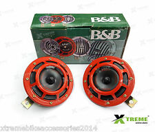 Xtreme B&B Vibro Sonic Red Horn Set For Royal Enfield Battle