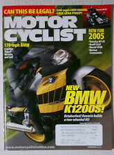 MOTORCYCLIST Motorcycle MAGAZINE 2004 OCTOBER DUCATI BMW K1200S CBR GSXR YZF