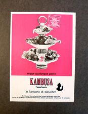 [GCG] L073- Advertising Pubblicità -1970- KAMBUSA , L'AMARICANTE