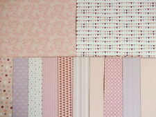 "12 sheets 6x6"" Scrapbook Backing Papers Dovecraft Back to Basics Pretty in Pink"