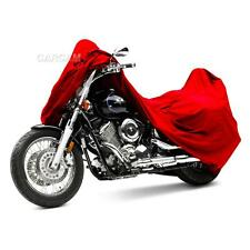 Red Large Motorcycle Storage Cover Outdoor Indoor Protection Honda Sports Bike