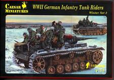 Caesar Miniatures 1/72 GERMAN WWII INFANTRY TANK RIDERS IN WINTER Figure Set