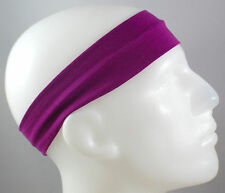 "NEW! 2"" Super Soft Purple Hair Band Head Sports Sweat Headband Stretch"
