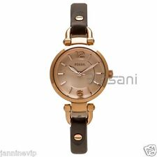 Fossil Original ES3862 Women's Georgia Gray Leather Watch 26mm