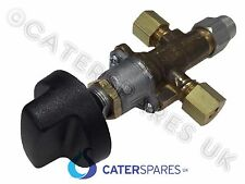 8MM COMPRESSION CATERING EQUIPMENT GAS GRIDDLE CONTROL VALVE & KNOB OFF-HI-LO