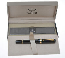 Parker Duofold International MK1 vintage 1990 black fountain pen new never inked