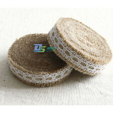 5mx 2.5cm Wedding Lace Burlap Garland Hessian Ribbon Party Rustic Roll Decor New