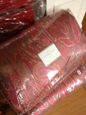 Pottery Barn Scarlet Comforter Set Red Queen 2 Standard Sham Paisley Quilt New