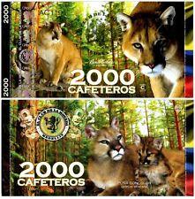 Colombia 2000 Cafeteros  El Club De La Moneda 2014 2015 Puma Concolor UNC