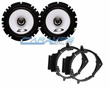 "NEW ALPINE E-SERIES 6.5"" CAR TRUCK STEREO SPEAKERS W/ DOOR MOUNTING BRACKETS"