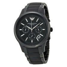 Emporio Armani Ceramica Chronograph Black Dial Black Ceramic Mens Watch AR1452